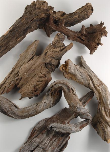 "Driftwood Natural (6 pieces ) 9-17"""