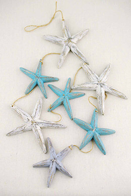 Driftwood Starfish Garland 48in
