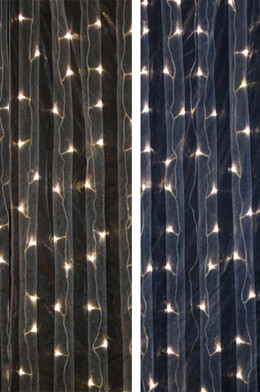 LED Light Curtain 5' x 7' Dual Color Warm & Cool White LEDs