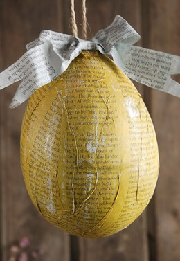 "Easter Eggs Decoupage 5.5"" Yellow"
