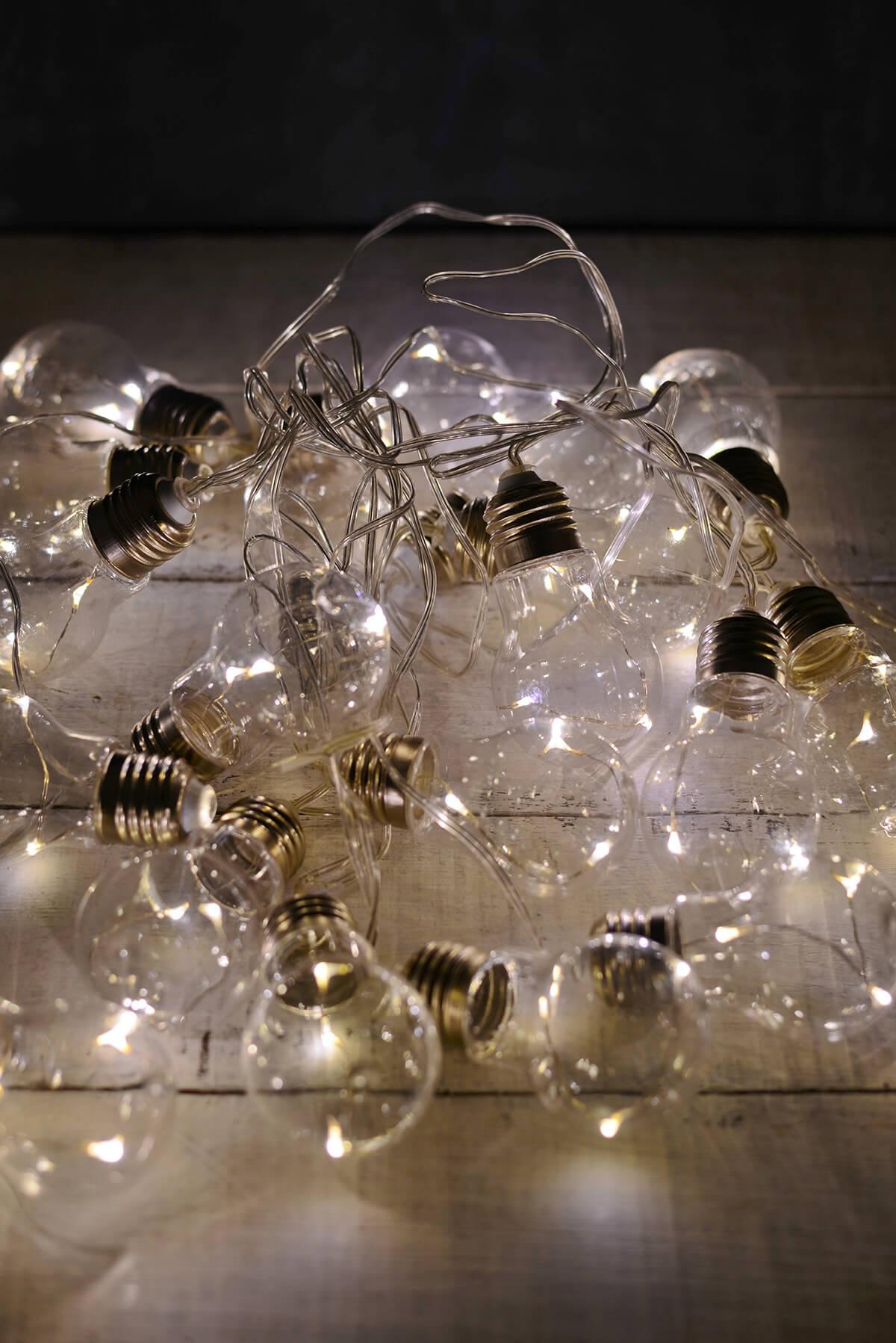 edison bulb led string lights 20ct 9ft clear cord. Black Bedroom Furniture Sets. Home Design Ideas