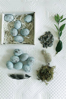 12 Turquoise Blue Ceramic Eggs