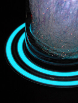 "El Wire 5.5"" Flat Panel Blue Double Circle, Tron Cosplay"