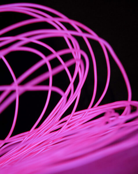 El Wire Purple 30ft 2.2mm | 30 Ft