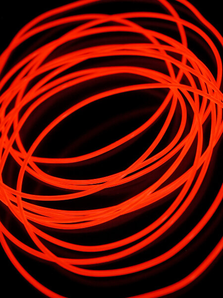 El Wire Red 2.2mm x 15ft
