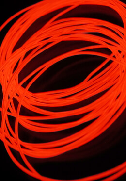 El Wire Red 2mm 30ft