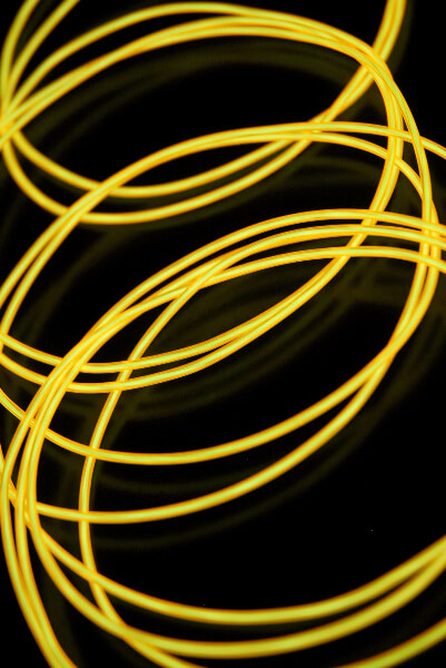 El Wire Lights Yellow | 2.2mm | 15 Ft