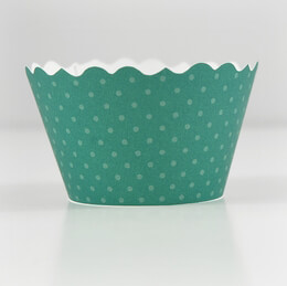 Emerald Green Cupcake Wrappers -50 Wraps