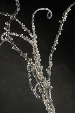 Silver Branch with Pearls 81in