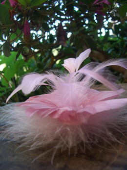 "Fascinator Flowers: 4"" Pink Dusty Rose Feather Flowers"