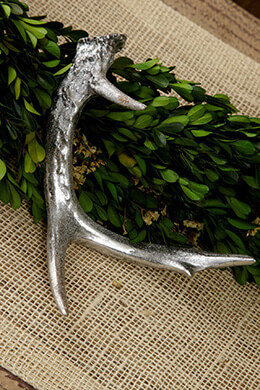 Faux Antler Silver 6.5in