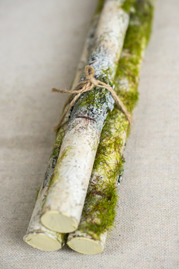 Faux Birch Branch Bundle (3 logs) 22.5in