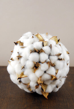 Cotton Deco Ball 6in