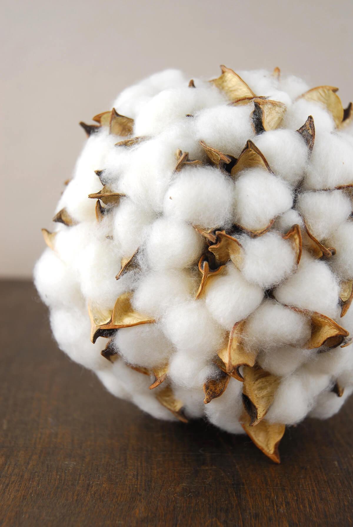 Cotton Deco Ball 6in