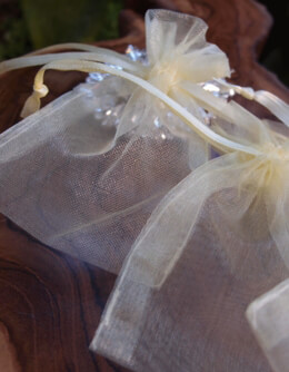 "Favor Bags Organza 3"" x 4"" Pale Yellow (pack of 24)"