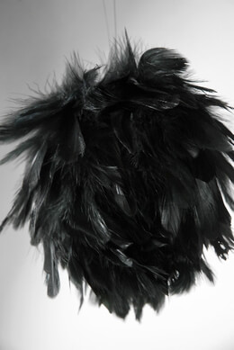 "Feather Balls 4"" Black"