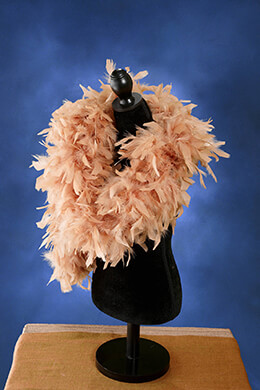 "Feather Boas Champagne (7"" thick) Chandelle 80gram"