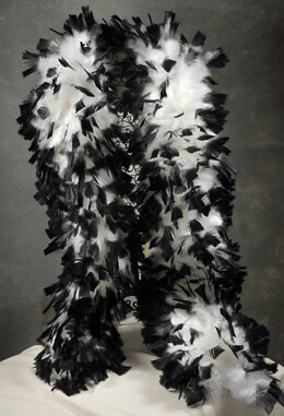 "Feather Boas (12"" wide) White with Black Tips"