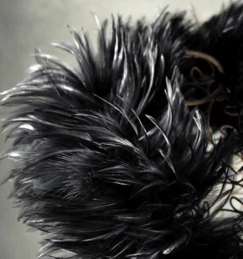 Feather Boas Extra Thick Black Feather Plume Boas