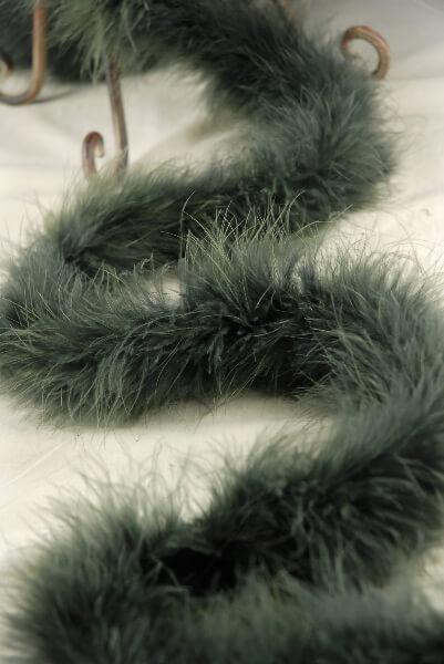 Feather Boas Forest Green Heavy Marabou 25 gram
