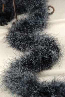 Feather Boas Marabou Black & White Chinchilla 25 gram