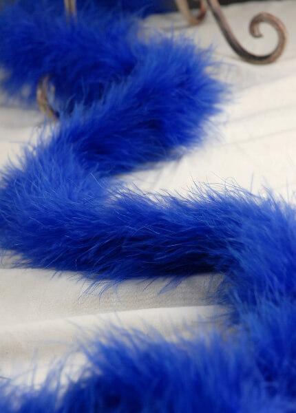 Feather Boas Marabou Royal Blue 25 gram