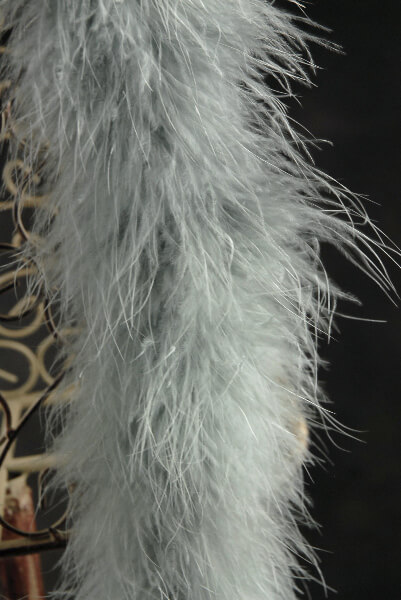 Feather Boas Marabou Silver Gray 25 gram