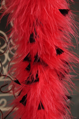 Feather Boas Red Marabou with Black Flat Tips 30gram