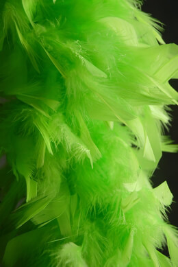 Feather Boas Lime Green (9in wide) 80 gram