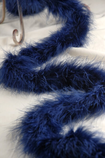 "Feather Boas: Thick Navy Marabou (5"" width) 25 gram"