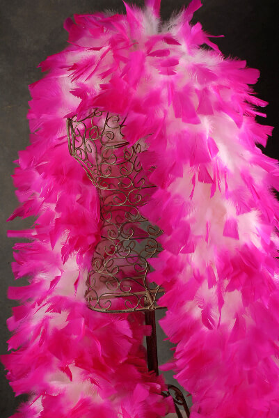 Feather Boas White Boa with Hot Pink Tips
