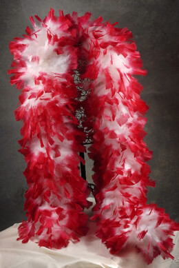 Feather Boas White with Red Tip Boas