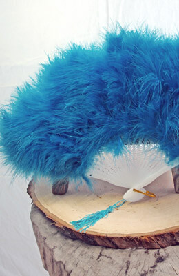 Turquoise Marabou Feather Fan