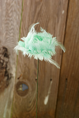 Feather Flower Tulip Mint 21in (Set of 4)