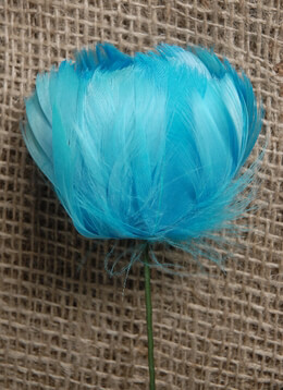 Feather Flower Turquoise