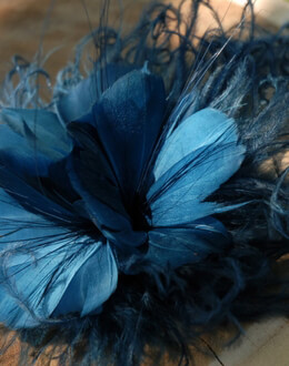 Feather Flower Fascinator Teal