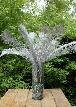 Feather Spray Silver 22in (Set of 12)