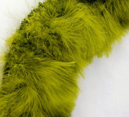 "Feather Trim Marabou Feathers Trim Olive Green (4-5"" tall x 36- 40"" long)"