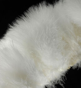 "Feather Trim Marabou Trim White 40"" long"
