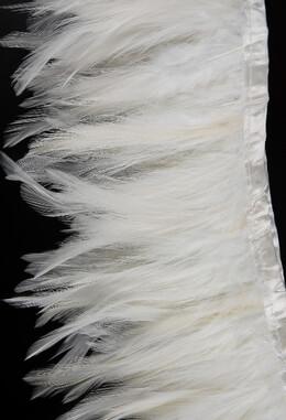 """White Feather Trim 5"""" Width x 72"""""""