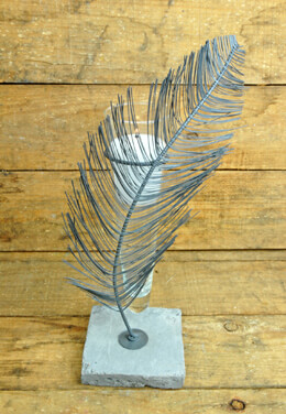 Feather Vase 11.5in
