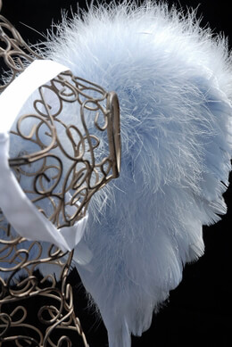 Feather Wings 21x15 Baby Blue Marabou & Goose Feathers