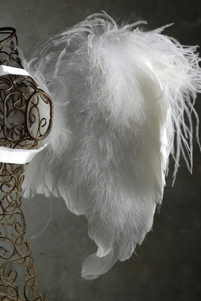 "Handcrafted Marabou 22"" Angel Wings"