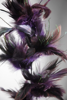 Feathers Wired Purple | Set of 3