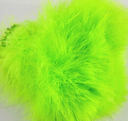 "Feathers Neon Lime Green Feathers Strung Marabou (4-5"" tall x 40"" long)"