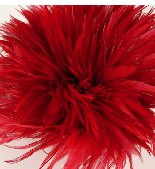 "Feathers Red Strung Rooster 6-7"" x 45"" long"