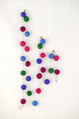 Felt Ball Garland Jewel 5ft