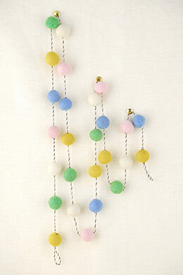 Felt Ball Garland Pastel 5ft