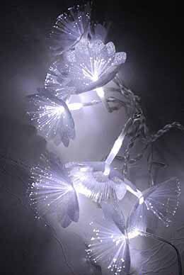 Fiber Optic String Lights Flowers 10ct