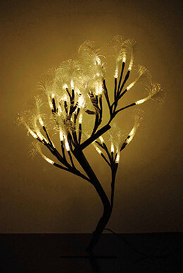 Fiber Optic Tree Battery Operated 19in